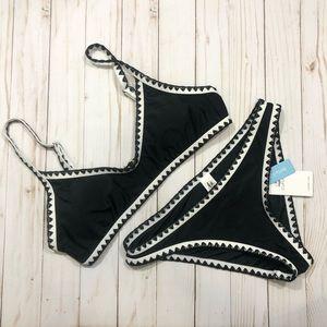 NWT Cupshe Crochet Trim Bikini